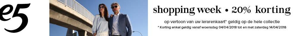 Shoppingweek: 20% korting