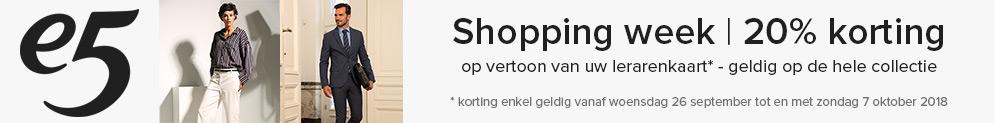 e5-shoppingweek met 20% korting