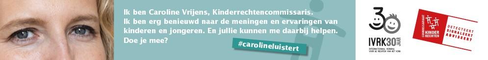 Kinderrechtencommissaris Caroline luistert