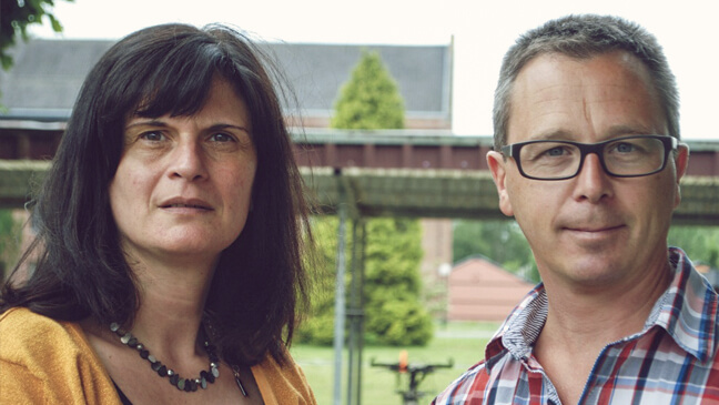 directeur Karin Reubrecht en leraar wiskunde Kurt Rasschaert