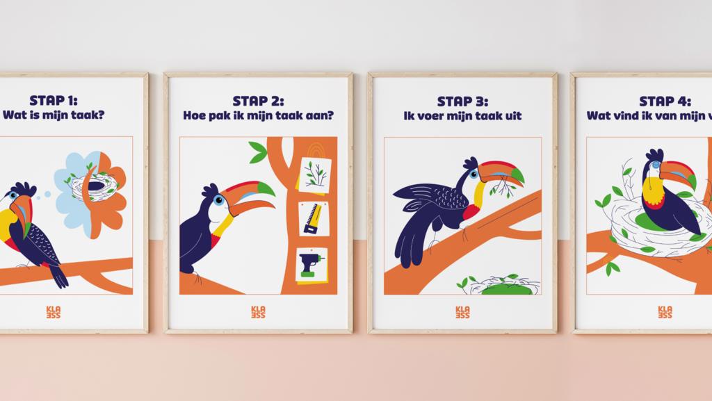 posters voor zelfstandig werk