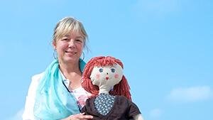 Directeur Erna De Roeck van d'Oefenschool in Blankenberge