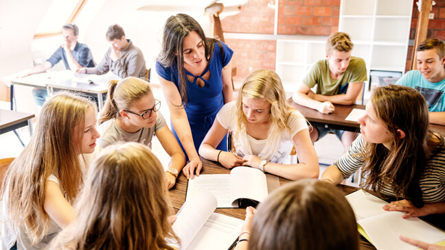 Leraar secundair onderwijs differentieert in de Klas