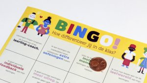 close-up van de differentiatiebingo
