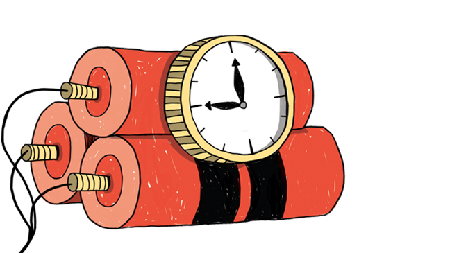 straffen: illustratie van dynamietstaven