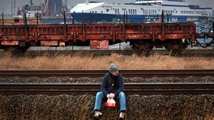 foto van man op het spoor