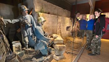 Reconstructie van soldaten aan het front WOI (Passchendaele)