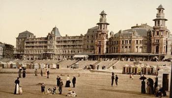 oude foto belle epoque zeedijk blankenberge