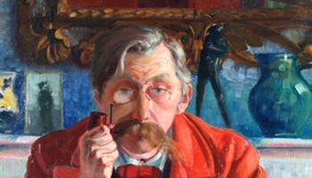 schilderij portret Emile Verhaeren