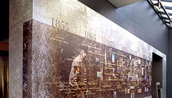 tijdlijn in museum