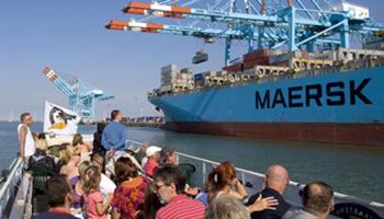 Havenrondvaart: Je ziet grote vrachtschepen