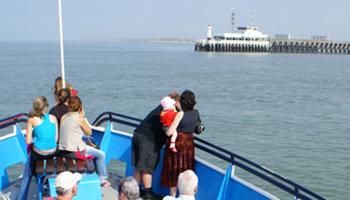 Havenrondvaart: Ingang haven Zeebrugge