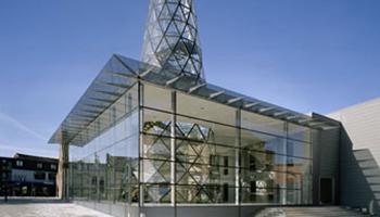 buitenkant architectuur Glashuis