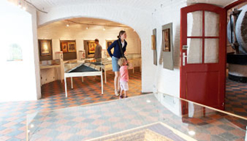 bezoekers bekijken tentoonstelling