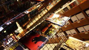 binnenkant stripwinkel