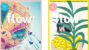 2 covers Flow magazine