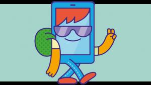illustratie met smartphone-secundaire-school-figuurtje