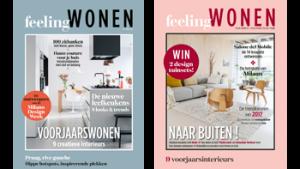 2 covers Feeling Wonen magazine