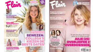 2 covers Flair magazine