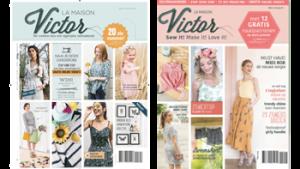 2 covers La Maison Victor magazine