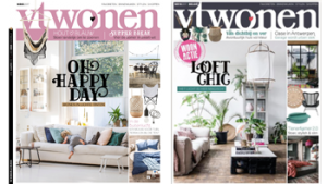 2 covers vtWonen magazine