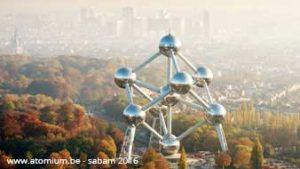 Luchtfoto van Atomium