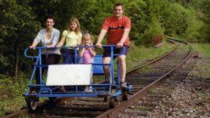 familie op railbike