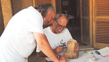 bewerking van archeologische vondsten