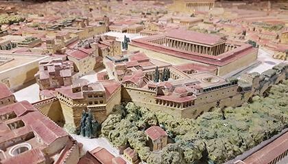 Maquette van Rome in de Oudheid