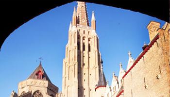 Zicht op kerktoren
