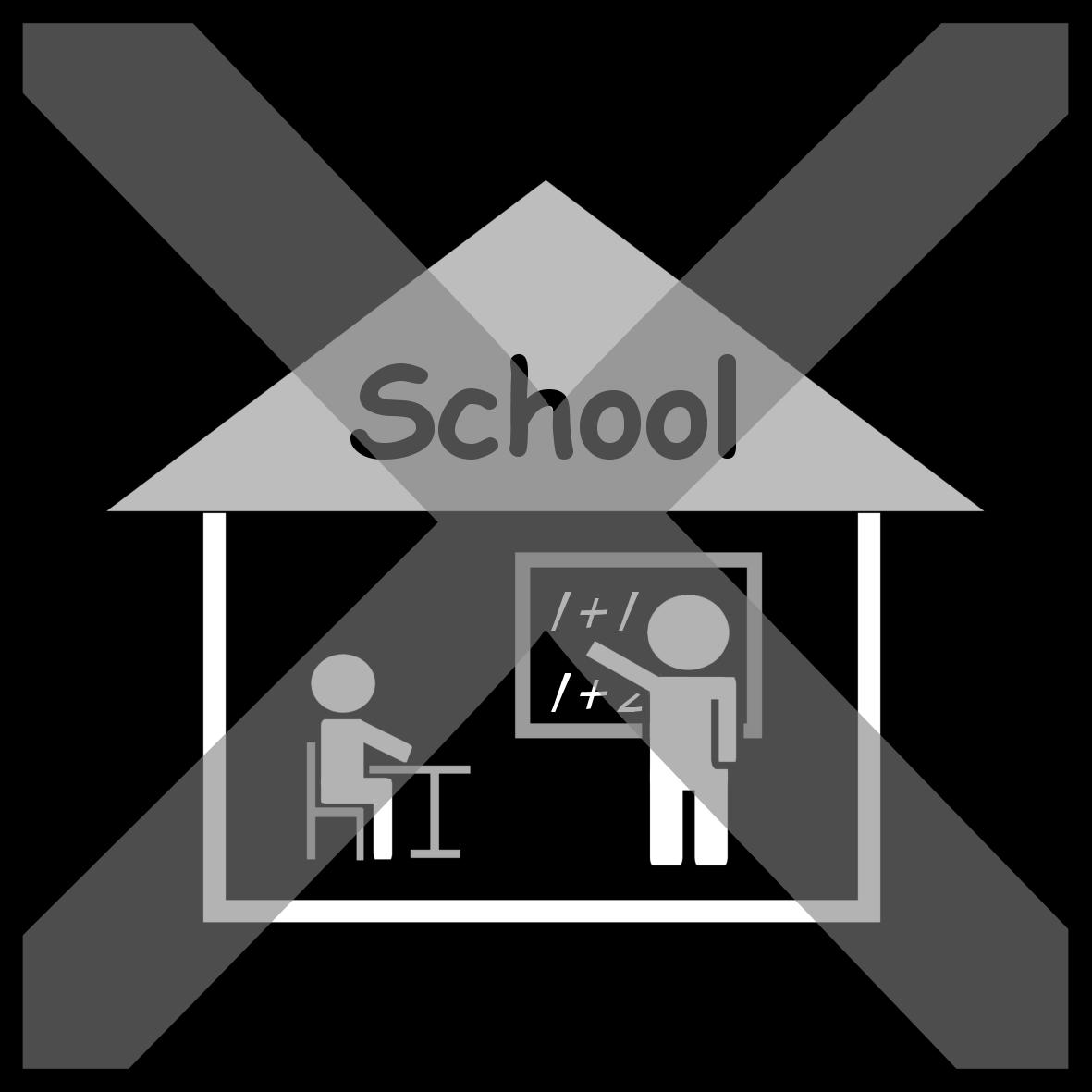 Afbeeldingsresultaat voor sclera picto geen school