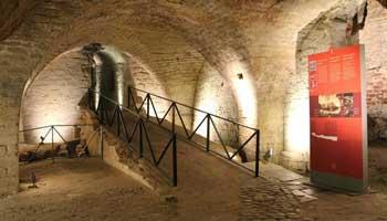 Ondergrondse archologische site van Caudenberg