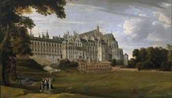 Schilderij van oud kasteel