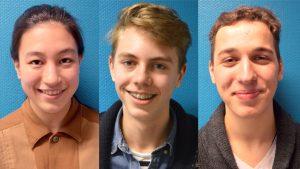 drie leerlingen van VSK
