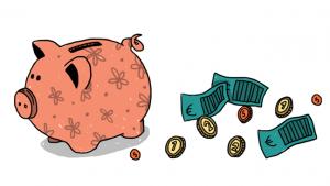 Illustratie van spaarvarken