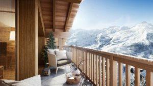 balkonzicht in de bergen van reizen mmv