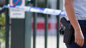 Politie aan de schoolpoort