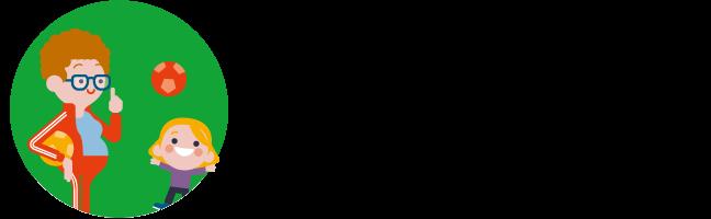 Illustratie van turnleraar met bal en fluitje