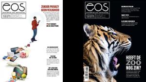 Covers van het EOS Wetenschap magazine