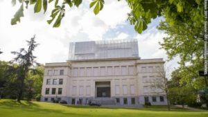 vooraanzicht gebouw Huis van de Europese geschiedenis