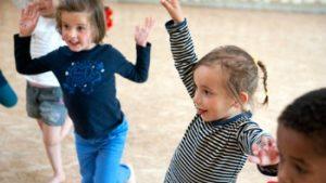 dansende kleuters