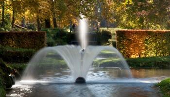 fontein in de vorm van een waaier