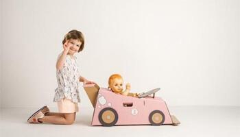 meisje met haar pop