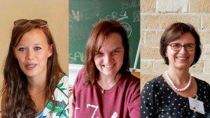 portretten van Marissa Van Boven, Tania Bruggeman en Ria De Wilde