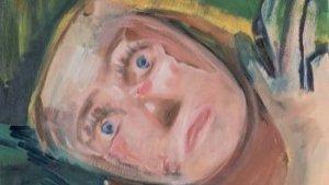 schilderij van angstig gezicht