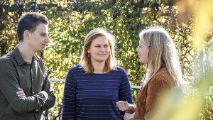 leraar Maxim De Rouck, Juf Karolien en leerling Nanina in gesprek