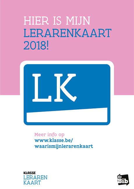 Lerarenkaart 2018 voorbeeld