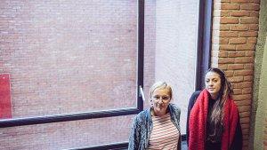 Leraren Angeligue en Sara van het Brusselse Imelda-Instituut