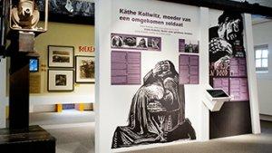 beeld op Käthe Kollwitzmuseum in Koekelare