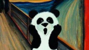 tekening van een panda
